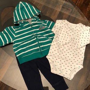 3 Piece 9 Month Boy Carter's Matching Set